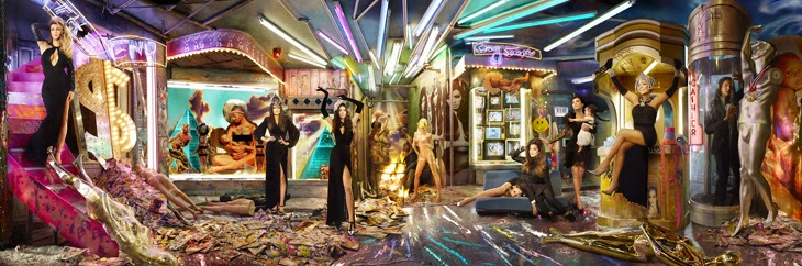 The Kardashians Christmas Card by David LaChapelle