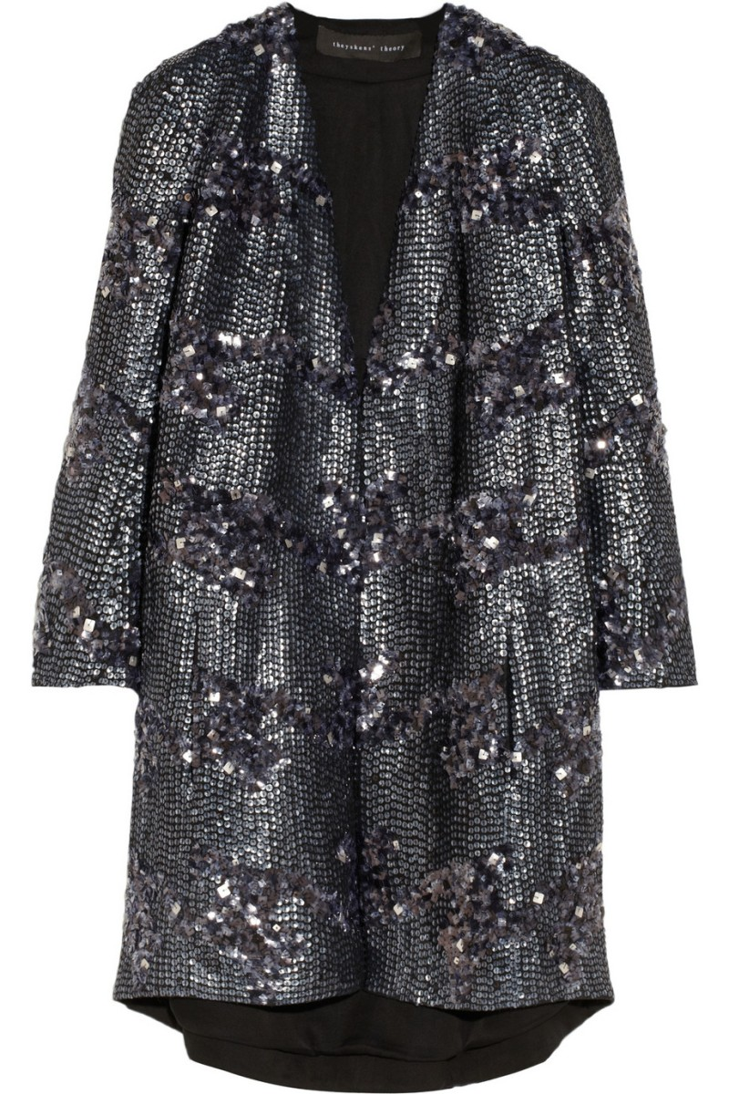 THEYSKENS' THEORY Sequined silk-crepe coat €1,745