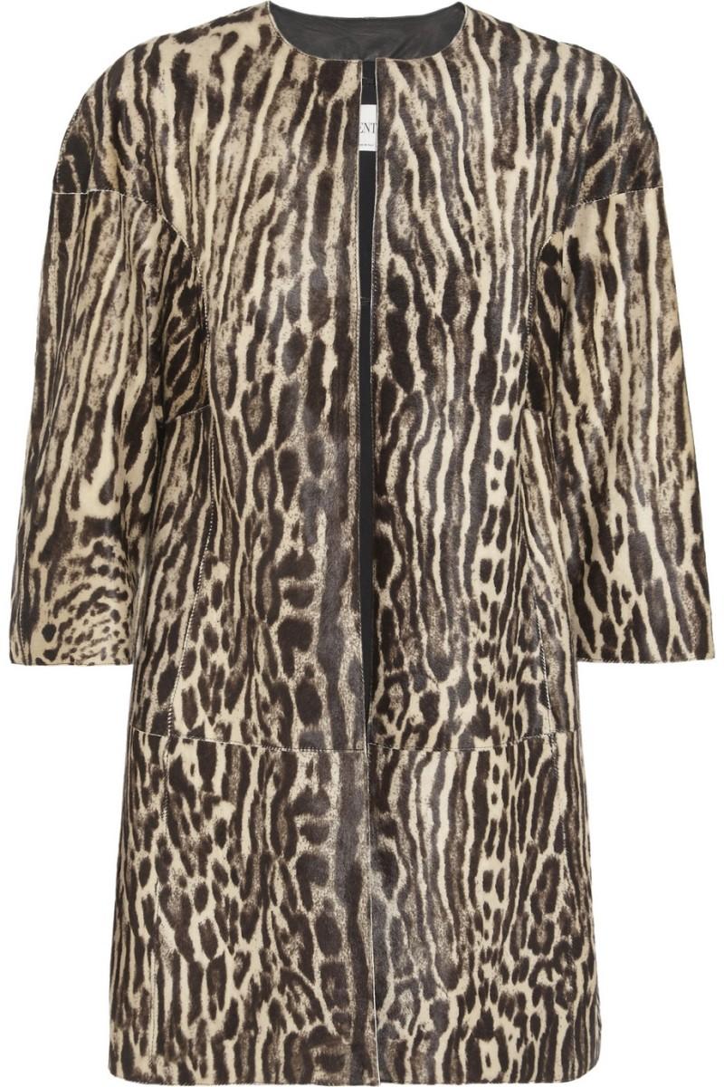 VALENTINO Leopard-print calf hair coat €6,980