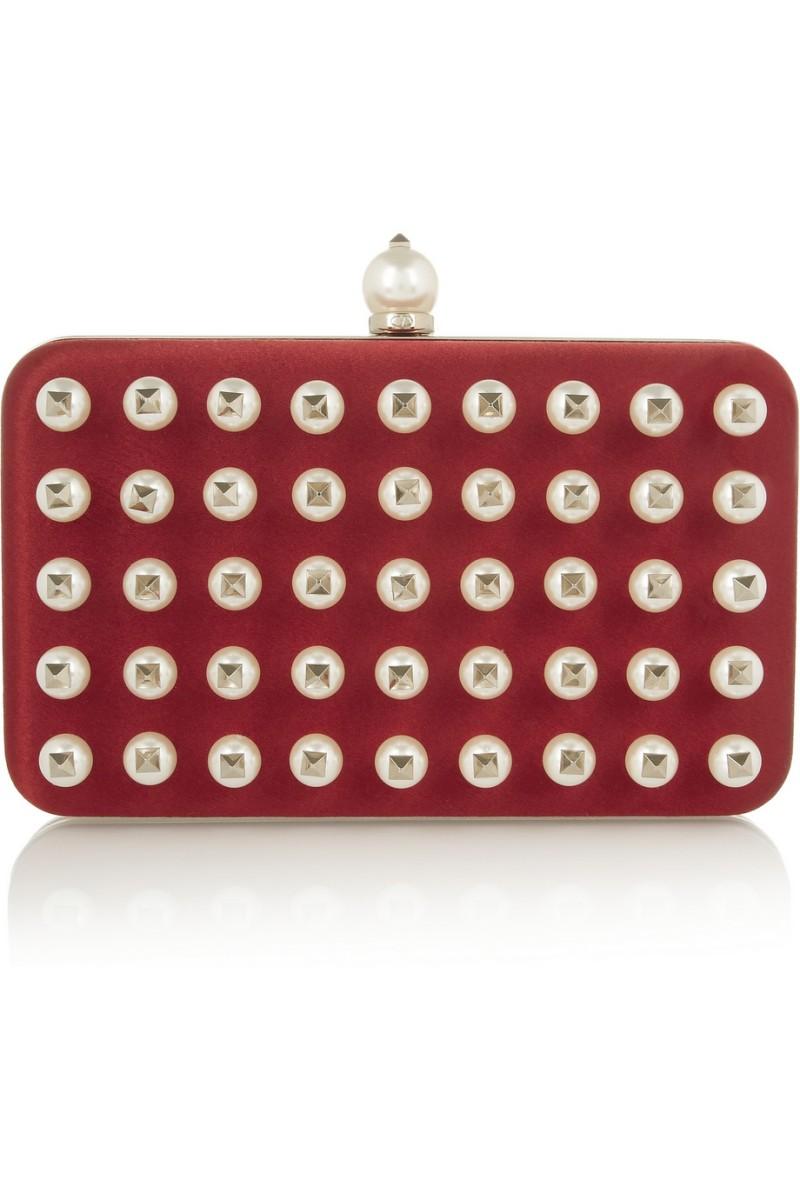 VALENTINO Pearls Glam embellished satin clutch €2,750