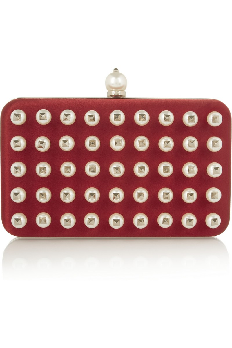 VALENTINO Pearls Glam embellished satin clutch €2,750