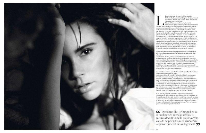 Victoria Beckham by David Sims for Vogue Paris December 2013/January 2014