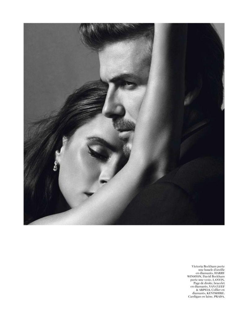 Victoria & David Beckham by Inez van Lamsweerde & Vinoodh Matadin for Vogue Paris December 2013/January 2014