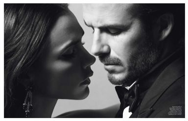 Victoria & David Beckham by Inez van Lamsweerde & Vinoodh Matadin for Vogue Paris December 2013/January 2014