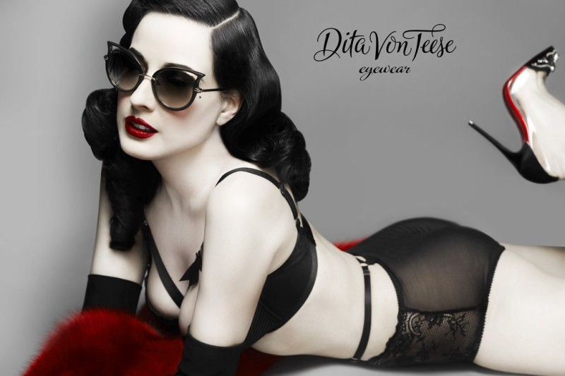 Ad campaign for Dita Von Teese Eyewear. Photo By Lionel Deluy and John Juniper
