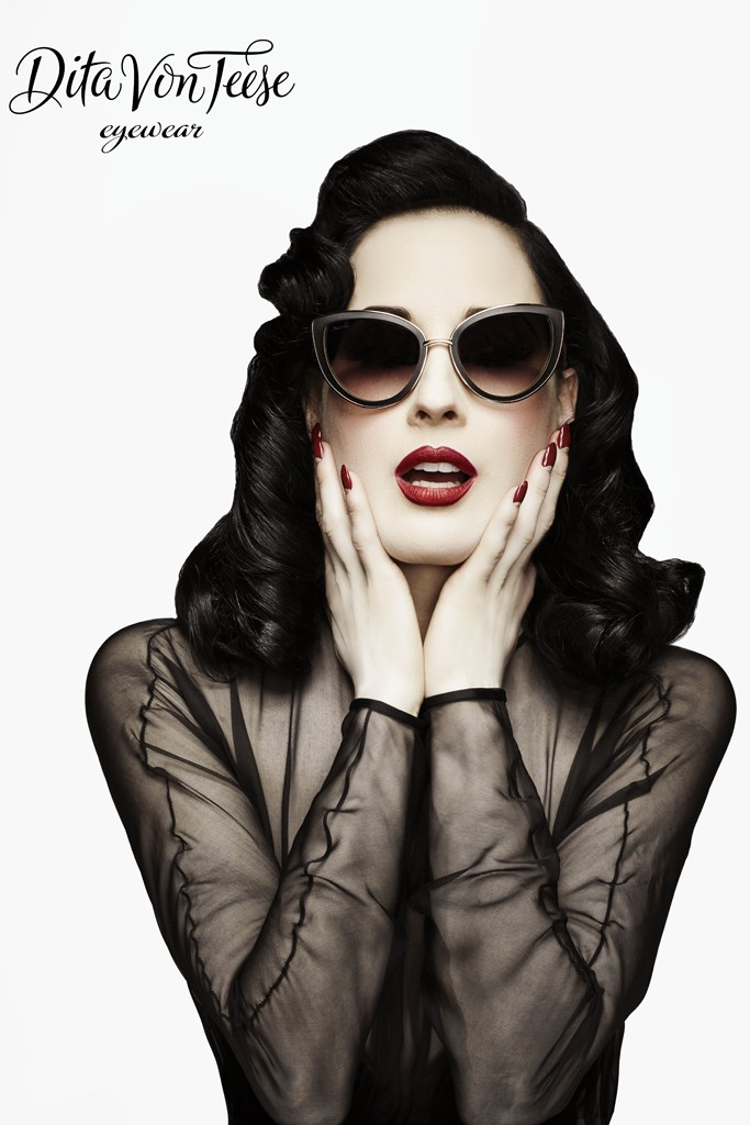 Dita Von Teese Eyewear. Photo By Lionel Deluy and John Juniper