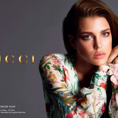 Charlotte Casiraghi,the face of Gucci's first cosmetics line