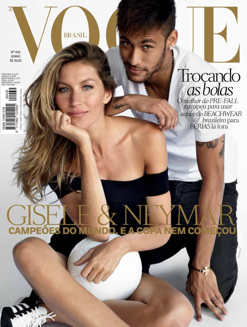 Gisele Bündchen and Neymar for Vogue Brasil June 2014