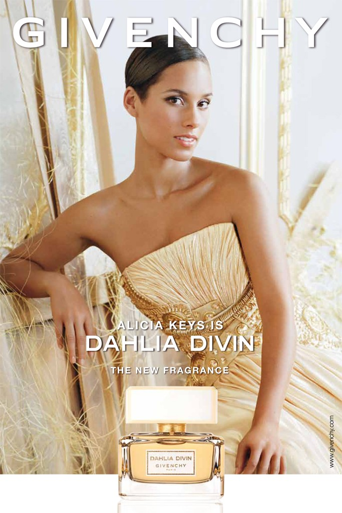 Alicia Keys, the face of  Dahlia Divin by Givenchy