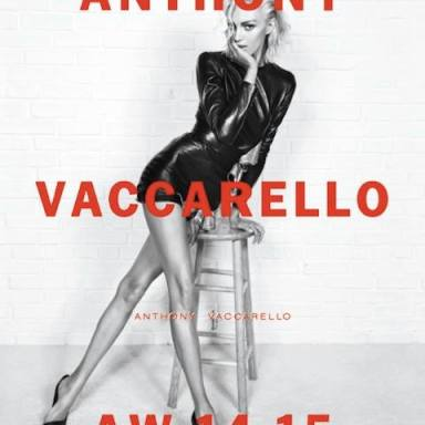 Anthony Vaccarello first ad campaign starring Anja Rubik