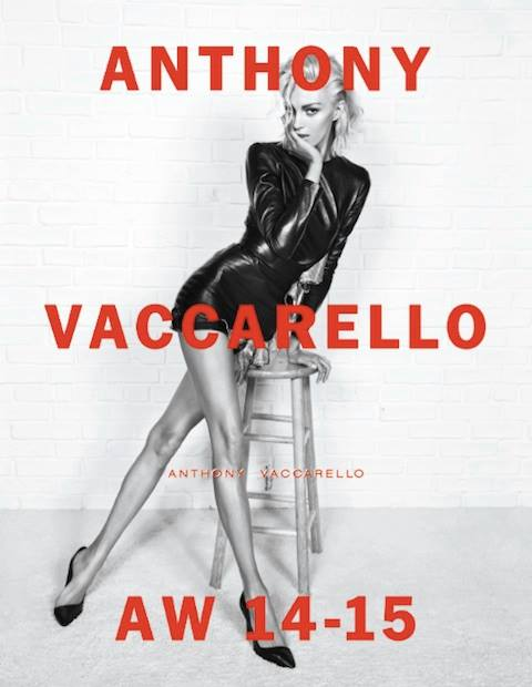 Anja Rubik for Anthony Vaccarello Fall 2014 ; photo by Inez & Vinoodh