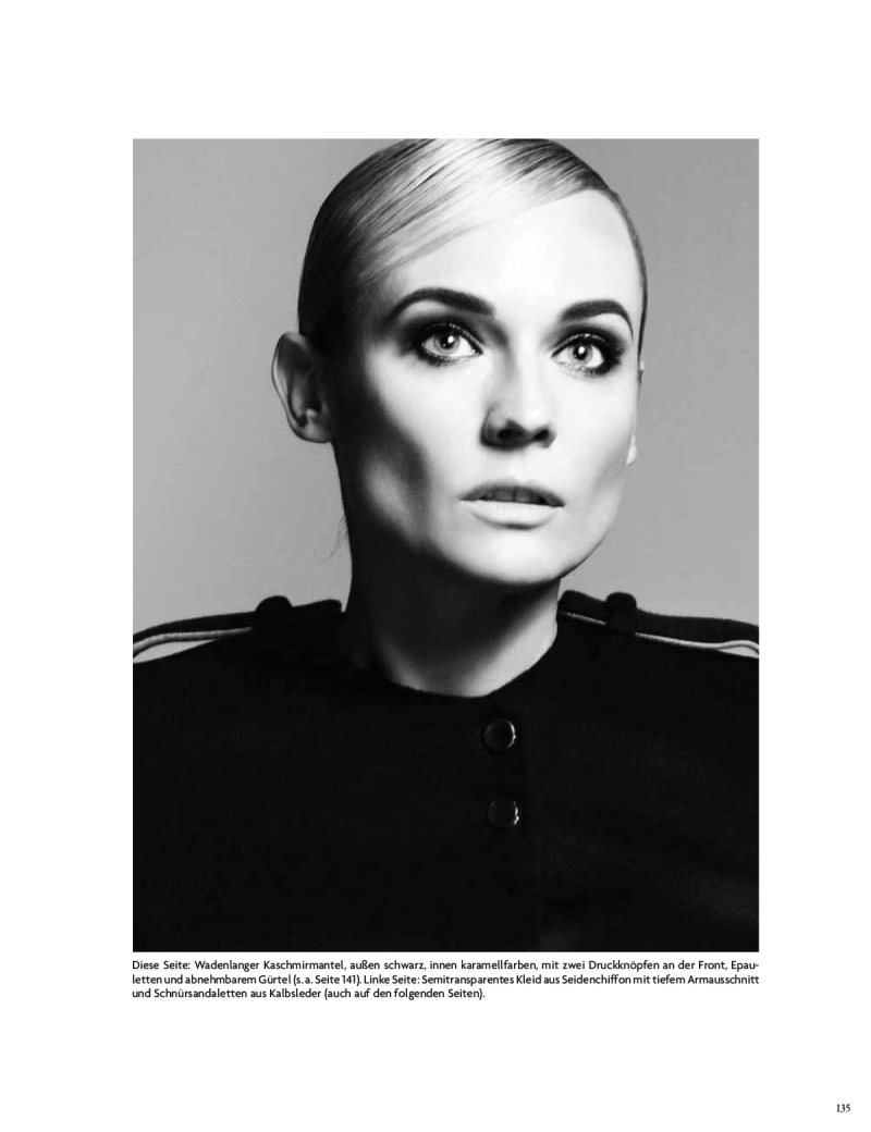 Diane Kruger by Camilla Akrans for Vogue Germany July 2014