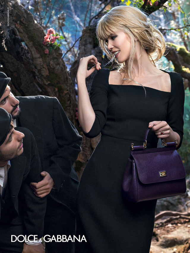 Claudia Schiffer for Dolce & Gabbana Fall 2014 ad campaign ; image by Domenico Dolce