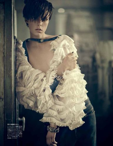 Edie Campbell for Vogue Japan August 2014