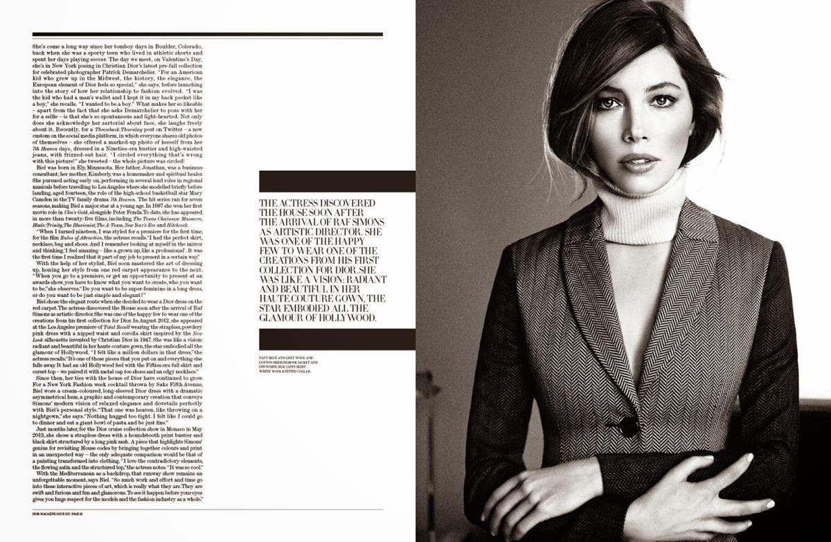 Jessica Biel for Dior Magazine No.6