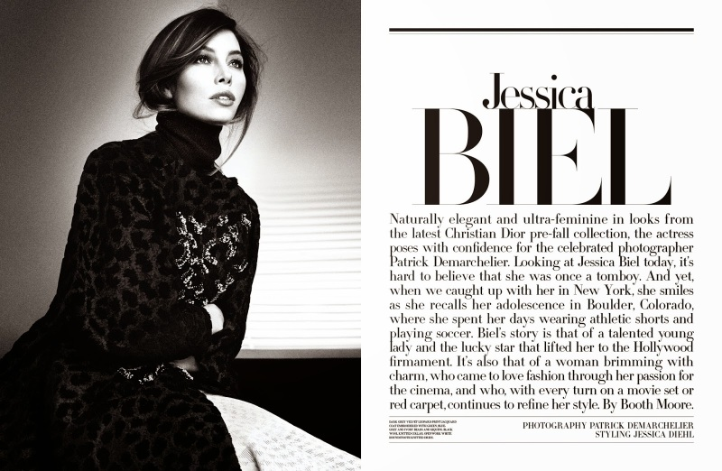 Jessica Biel for Dior Magazine No.6. Photo by Patrick Demarchelier