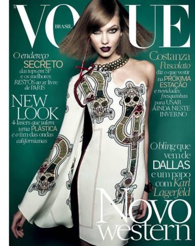 Karlie Kloss covers Vogue Brasil July 2014