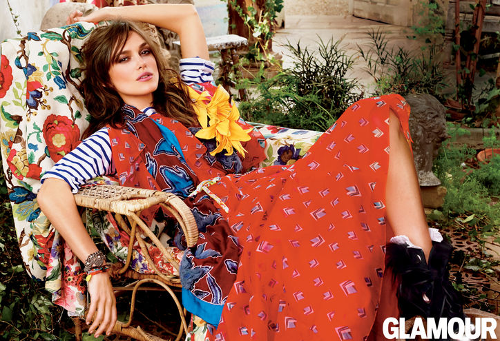 Keira Knightley for Glamour July 2014