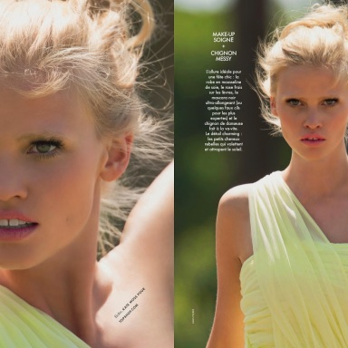 Lara Stone for ELLE France June 2014