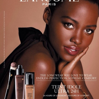 Lupita Nyong'o first advertising for Lancome