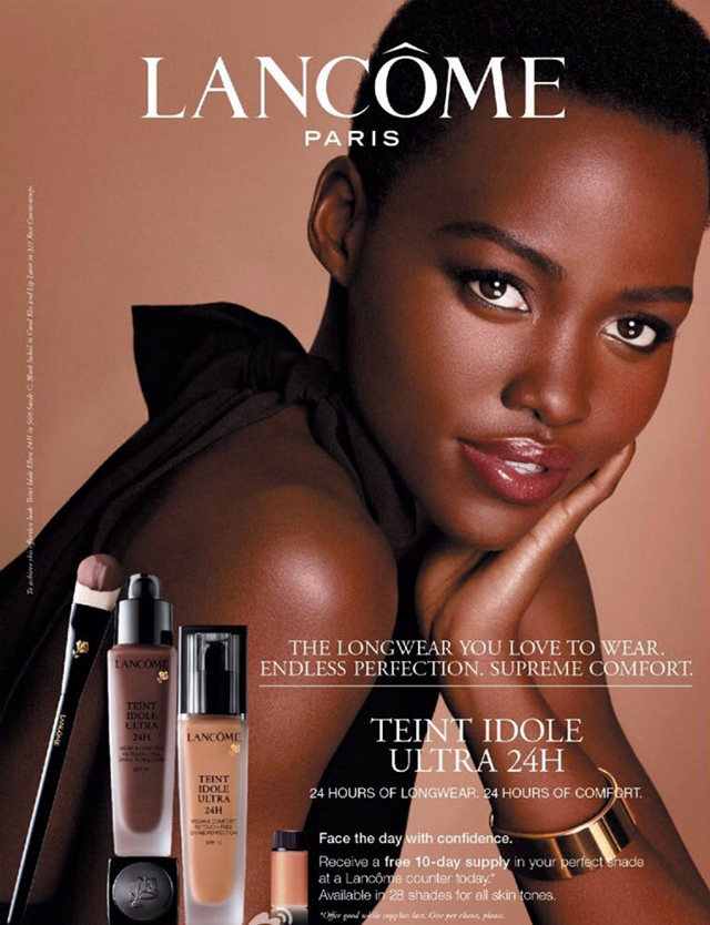 Lupita Nyong'o first advertising for Lancome