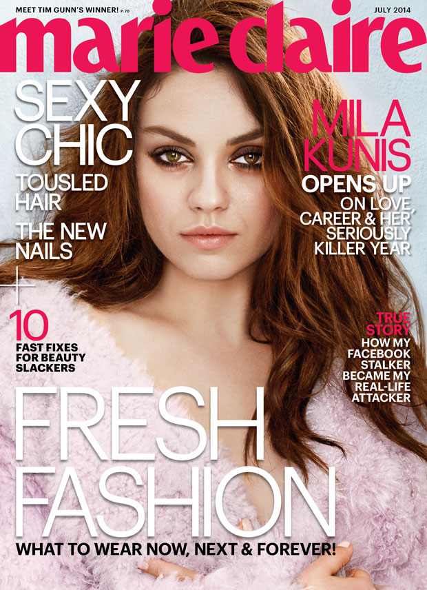 Mila Kunis for Marie Clarie's July 2014