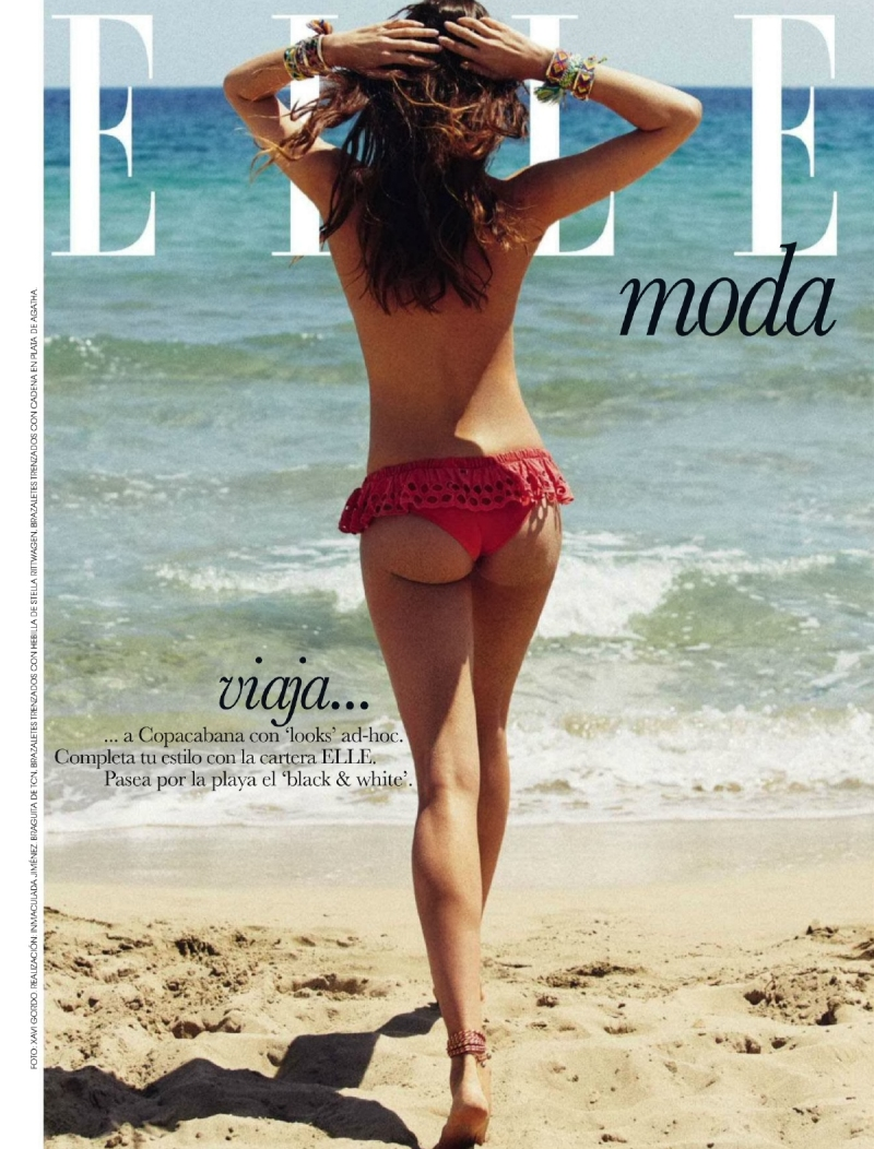 Nadejda Savcova for ELLE Spain July 2014