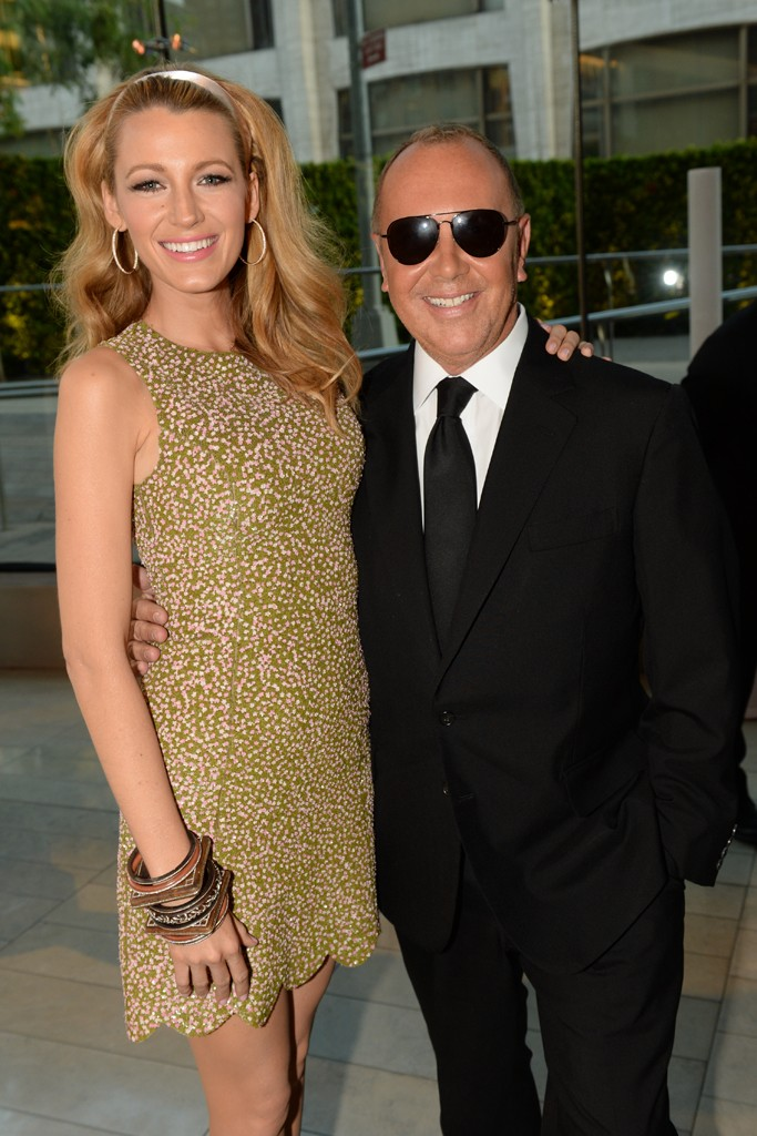 Blake Lively in Michael Kors with the designer.
