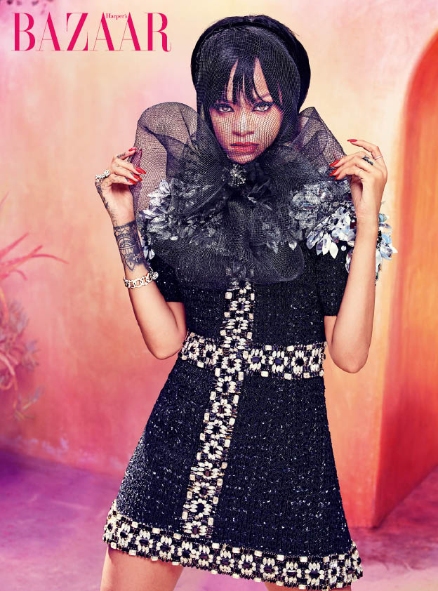 Rihanna for Harper's Bazaar Arabia July 2014 by Ruven Afanador