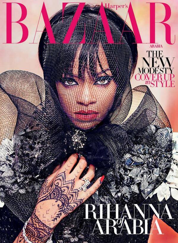 Rihanna for Harper's Bazaar Arabia July 2014 by Ruven Afanador