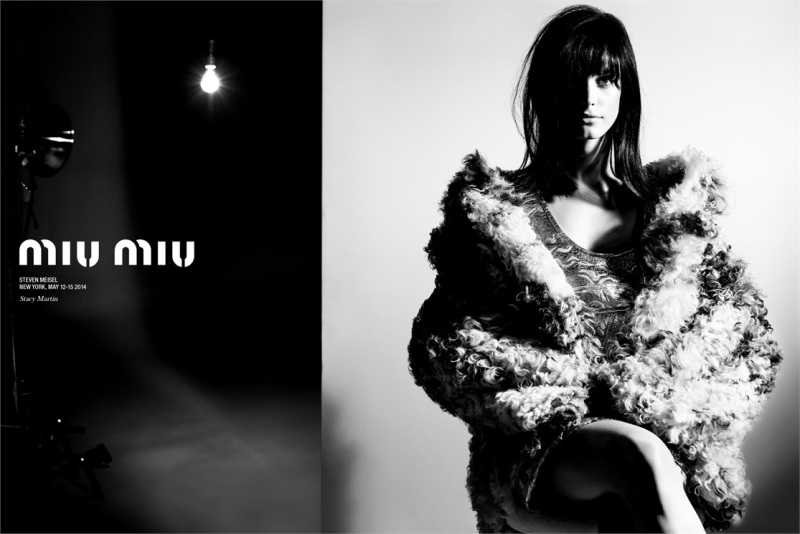 Stacy Martin the face of Miu Miu Fall 2014 ad campaign