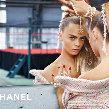 Cara Delevingne fronts Chanel Fall 2014 ad campaign