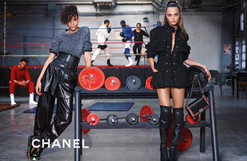 Cara Delevingne and Leona Binx Walton fronts Chanel Fall 2014 ad campaign