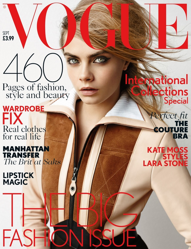 Cara Delevingne fronts Vogue UK September 2014
