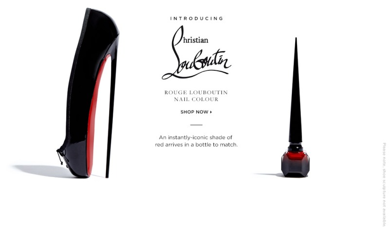 Red Louboutin nail polish exclusively at Saks 5th Avenue