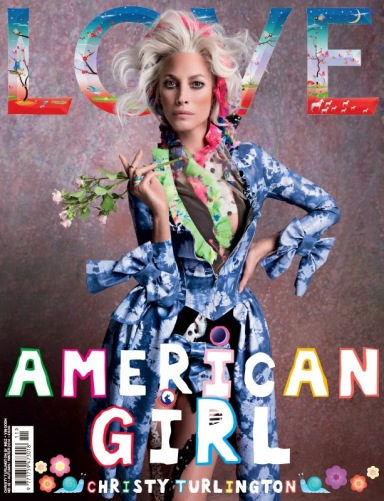 Christy Turlington covers Love's Fall 2014 issue