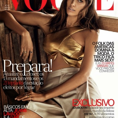 Irina Shayk covers Vogue Brasil August 2014