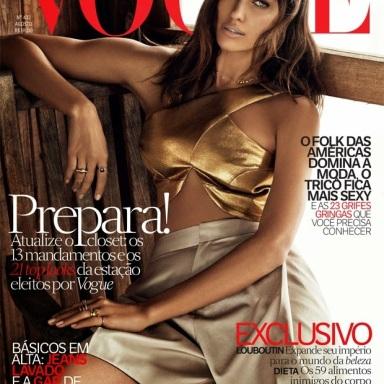 Irina Shayk covers Vogue Brasil August 2014