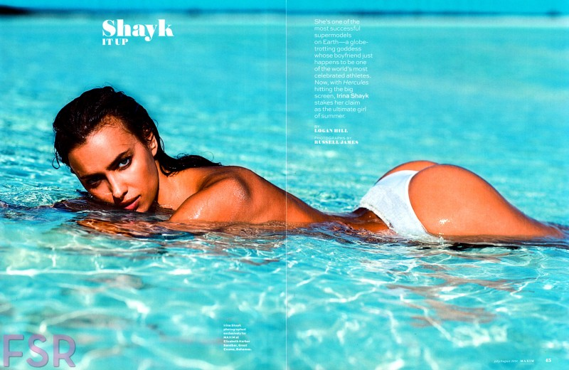 Irina Shayk for Maxim July/August 2014 ; photo by Russell James