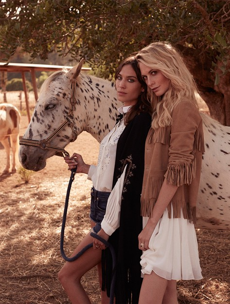 Poppy Delevingne and Alexa Chung for The Edit July 2013