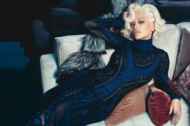 Rita Ora for Roberto Cavalli Fall 2014 ad campaign ; photo by Francesco Carrozzini