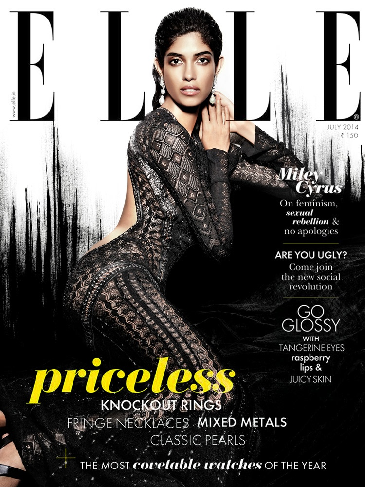 Amazing grace smita lasrado for elle india july 2014 for Elle subscription change address
