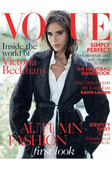 Victoria Beckham covers Vogue UK August 2014