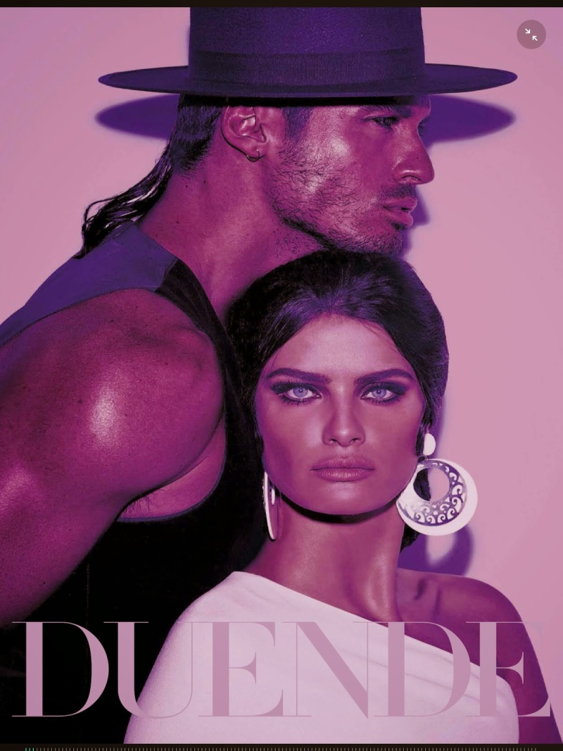 Isabeli Fontana & Timo Nuñez for Vogue Italia August 2014