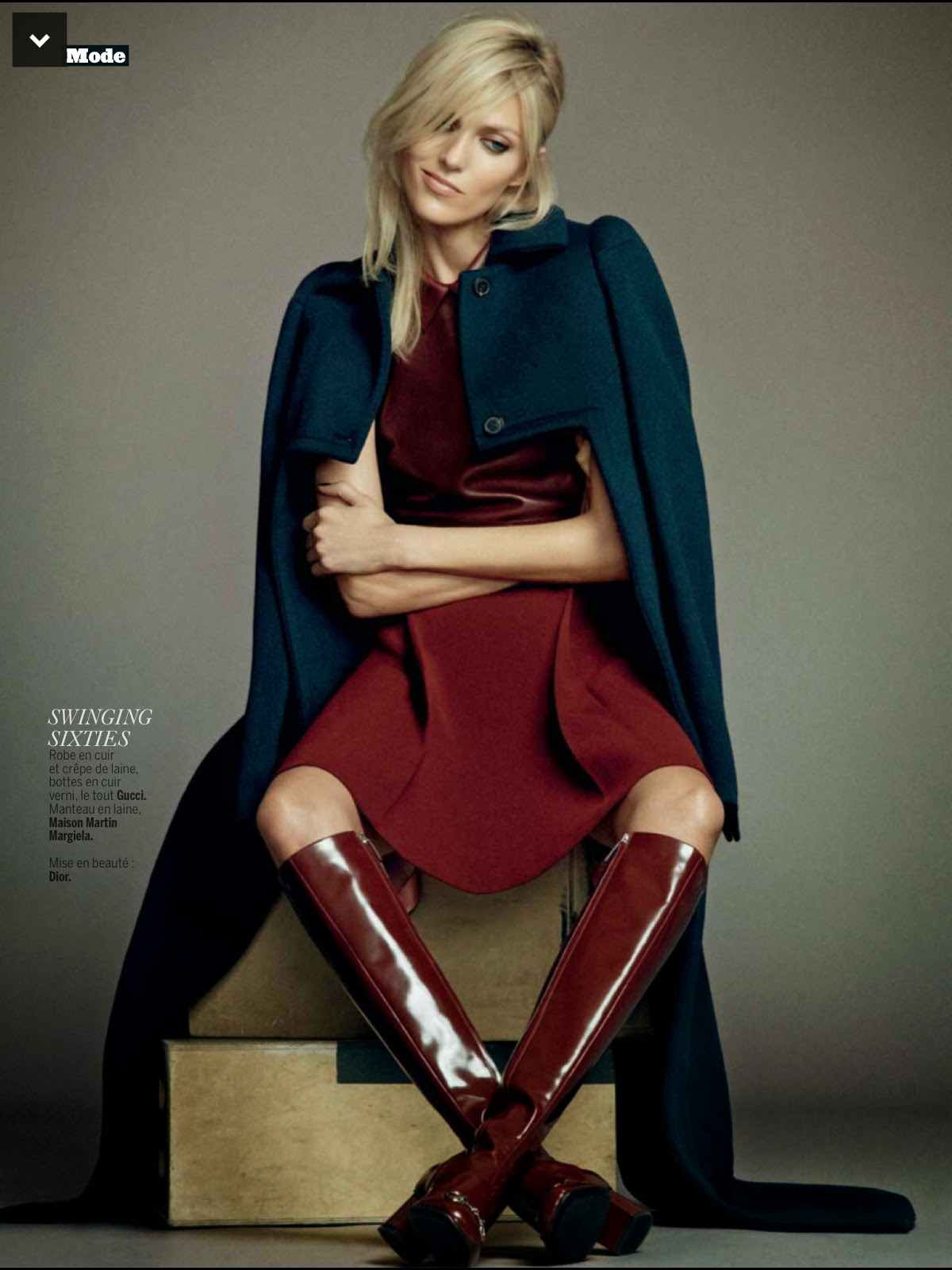 September 2014 Issue: Revue De Saison : Anja Rubik For L'Express Styles