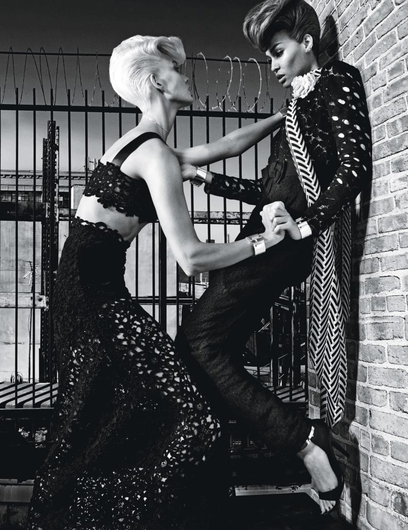Karlie Kloss & Joan Smalls for W November 2014