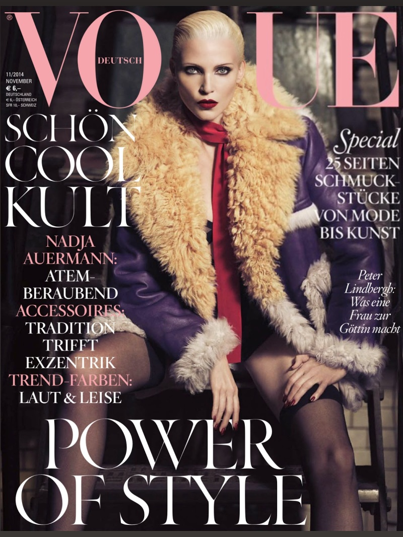 Nadja Auermann for Vogue Germany November 2014 by Luigi+Iango
