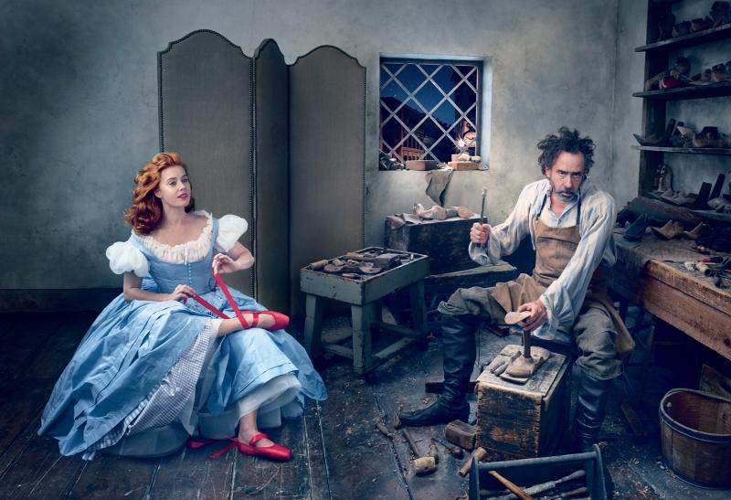 Amy Adams & Tim Burton by Annie Leibovitz for Vogue US December 2014