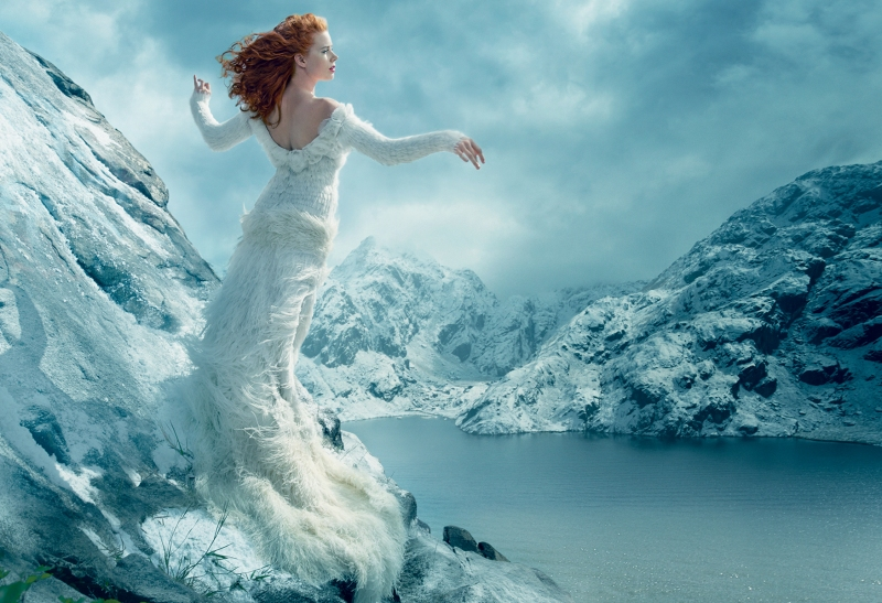 Amy Adams & Tim Burton by Annie Leibovitz for Vogue US December 2014