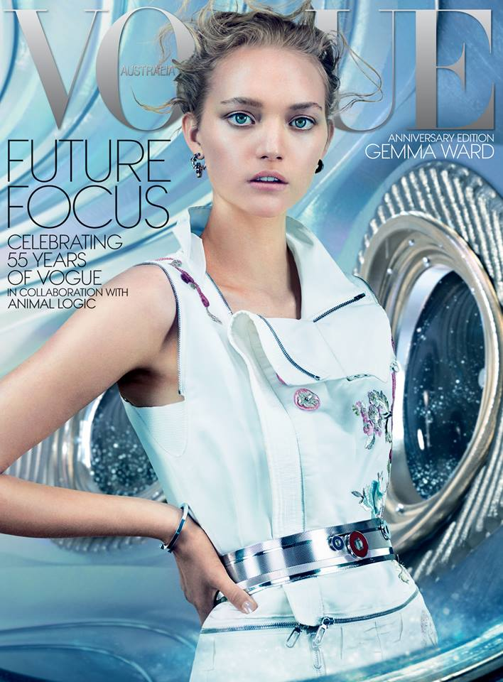 Gemma Ward covers Vogue Australia December 2014